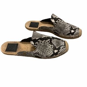 Tory Burch Women's Gray Espadrille Mules 7.5